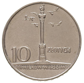 10 злотых 1966 Колонна - Зигмунта / 10 zlotych 1966 - Kolumna Zygmunta