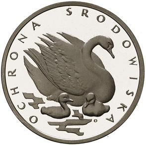 500 злотых 1984 - Лебедь