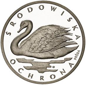 1000 злотых 1984 - Лебедь - проба