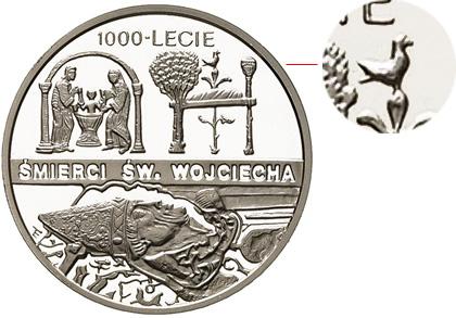 10 злотых 1997 - 1000-летие смерти св. Войтека
